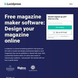 Free Digital Magazine Software