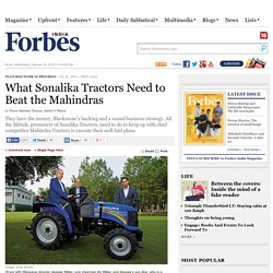 What Sonalika Tractors Need to Beat the Mahindras