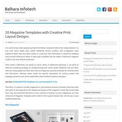 20 Magazine Templates with Creative Print Layout Designs – Balhara Infotech