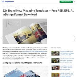 52+ Brand New Magazine Templates – Free PSD, EPS, AI, InDesign Format Download