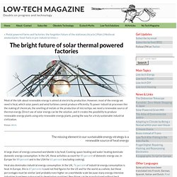 The bright future of solar powered factories