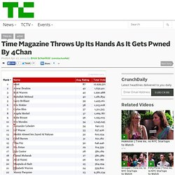 Time Magazine Throws Up Its Hands As It Gets Pwned By 4Chan