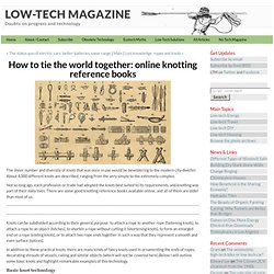 How to tie the world together: online knotting reference books