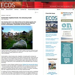 ECOS Magazine - Towards A Sustainable Future