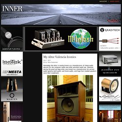 Inner Magazine - My Altec Valencia Iconics