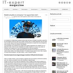 IT-expert Magazine Réalité virtuelle en entreprise ? Un apport bien réel !