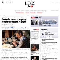 Copié-collé: quand un magazine pompe Wikipédia sans vergogne