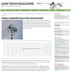 Urban windmills harm the environment