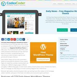 Daily News - Free Magazine WordPress Theme - CodexCoder