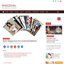 Best Magazines for Android Mobiles - Web2links