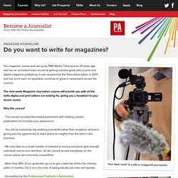 Do you want to write for magazines?