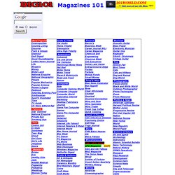 Magazines 101,best magazines, free online, low prices, old magaz