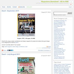 All posts tagged 'dwell magazine'