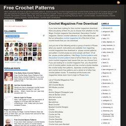 Crochet Magazines Free Download ~ Free Crochet Patterns