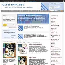 Poetry Magazines - Free access to UK poetry magazines from the Poetry Library Collection