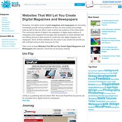 Websites That Will Let You Create Digital Magazines and Newspapers