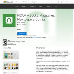 NOOK – Books, Magazines, Newspapers, Comics app for Windows in the Windows Store