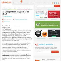 42 Design/Tech Magazines To Read