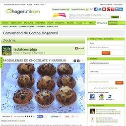 MAGDALENAS DE CHOCOLATE Y NARANJA en la Comunidad de Cocina Hogarutil