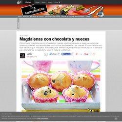 Magdalenas con chocolate y nueces