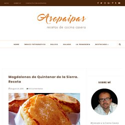 Magdalenas de Quintanar de la Sierra. Receta