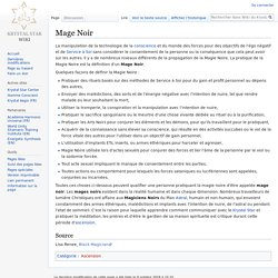 Mage Noir — Wiki du Krystal Star