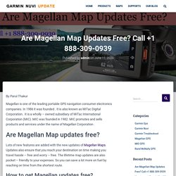 Are Magellan Map Updates Free? Call +1 888-309-0939