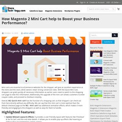 How Magento 2 Mini Cart help to Boost your Business Performance?
