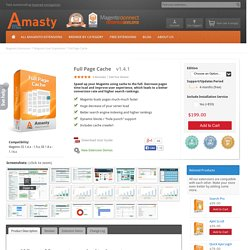 Magento Full Page Cache - Magento Speed Booster by Amasty
