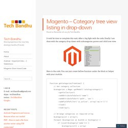 Magento – Category tree view listing in drop-down