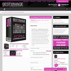 Magento Easy Configurable Product Matrix