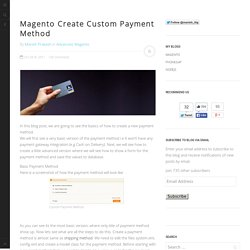 Magento Create Custom Payment Method