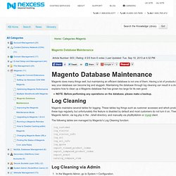 magento-database-maintenance [Documentation - Nexcess]