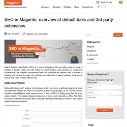 SEO in Magento: default tools, 3rd party extension