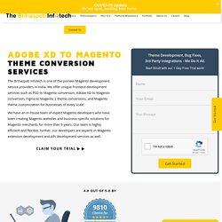 PSD to Magento Design - Adobe xd to Magento Theme Conversion