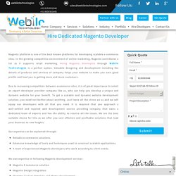 Hire Magento Developer, Hire Certified Magento Developer, Hire Magento 2 Developer
