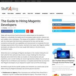 The Guide to Hiring Magento Developers - Stuffablog.com