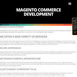 Magento Commerce Development London - Sowedane