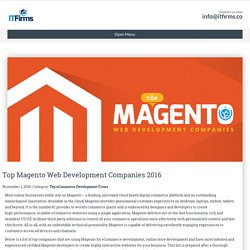 Top Magento Web Development Companies 2016 - IT Firms