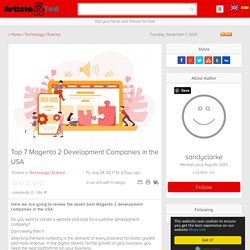 Top 7 Magento 2 Development Companies in the USA Article