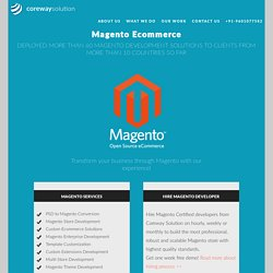 Magento eCommerce Web Development India