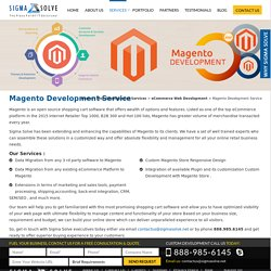 Magento Web Development, Magento eCommerce Development