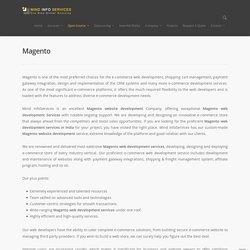 Magento web development in India & Germany