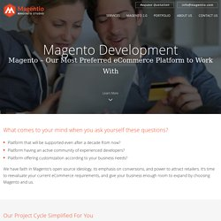 Magento Development Services, Magento Store Development, Website