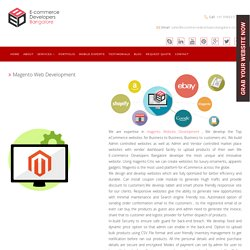 Magento Ecommerce Web Development Company in India