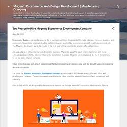 Top Reason to Hire Magento Ecommerce Development Company