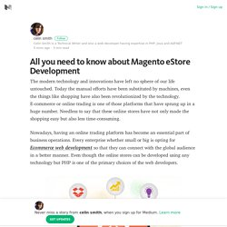 All you need to know about Magento eStore Development – Medium