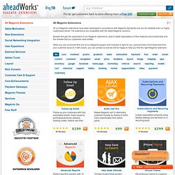 Magento Modules and Plugins by aheadWorks
