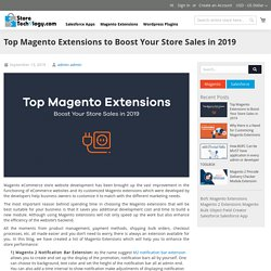 Top Magento Extensions to Boost Your Store Sales in 2019