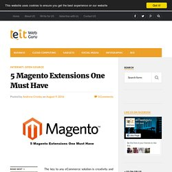 5 Magento Extensions One Must Have